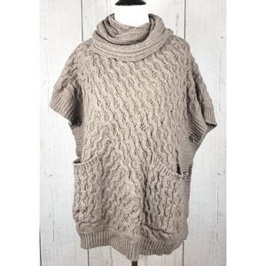 Anthro Angel of the North Bryson Cowl Neck Poncho